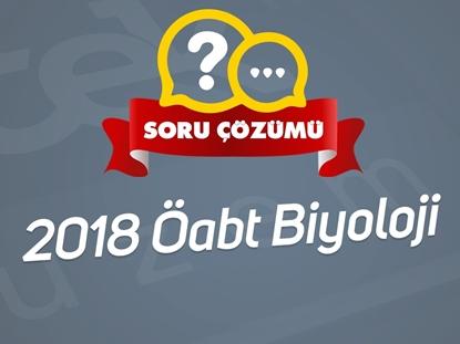 Resim 2018 ÖABT BİYOLOJİ  CANLI SORU ÇÖZÜMÜ