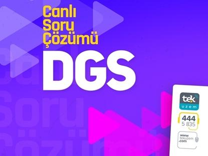 Resim 2018 DGS Soru Çözümü Canlı Dersler