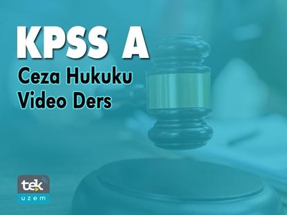 Resim KPSS-A Ceza Hukuku Video Ders