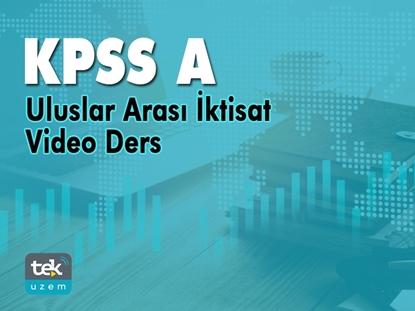 Resim KPSS-A Uluslar Arası İktisat Video Ders