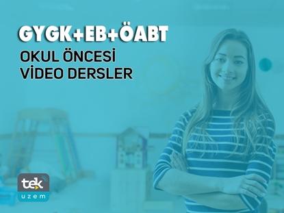 Resim 2019 GY/GK - E.B -  ÖABT Okul Öncesi Öğretmenliği Alan Bilgisi Video Dersler