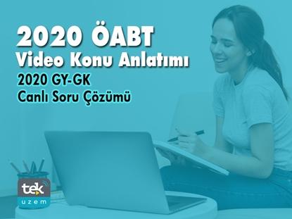 Resim 2020 ÖABT Video Konu Anlatımı+ 2020 GY-GK Canlı Soru Çözümü