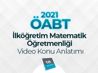 Resim 2021 ÖABT İlkÖğretim Matematik Video Konu Anlatımı Eğitimi