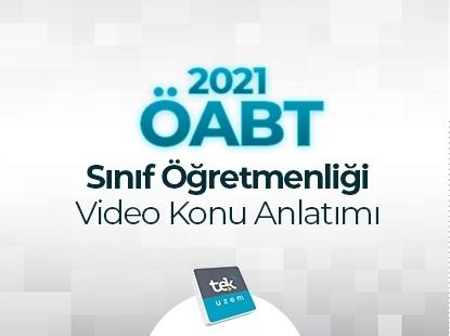 Resim 2021 ÖABT Sınıf Öğretmenliği Video Konu Anlatımı Eğitimi