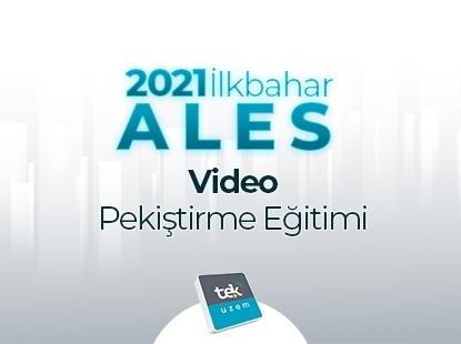 Resim 2021 İLKBAHAR ALES Video Pekiştirme Eğitimi