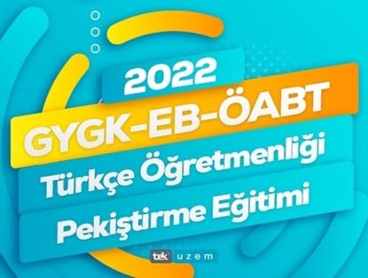2022 GYGK-EB-ÖABT Türkçe Öğretmenliği Canlı Pekiştirme Eğitimi