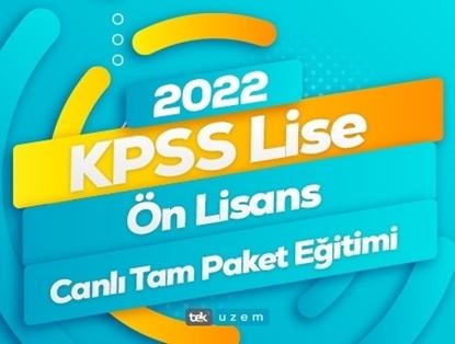 2022 KPSS Lise-Önlisans Tam Paket Eğitimi