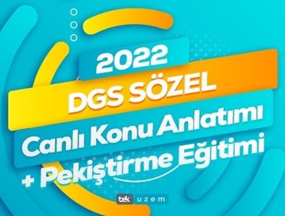 2022 DGS Sözel Canlı Konu Anlatımı- Pekiştirme Eğitimi